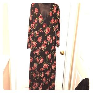 Floral sheer gown